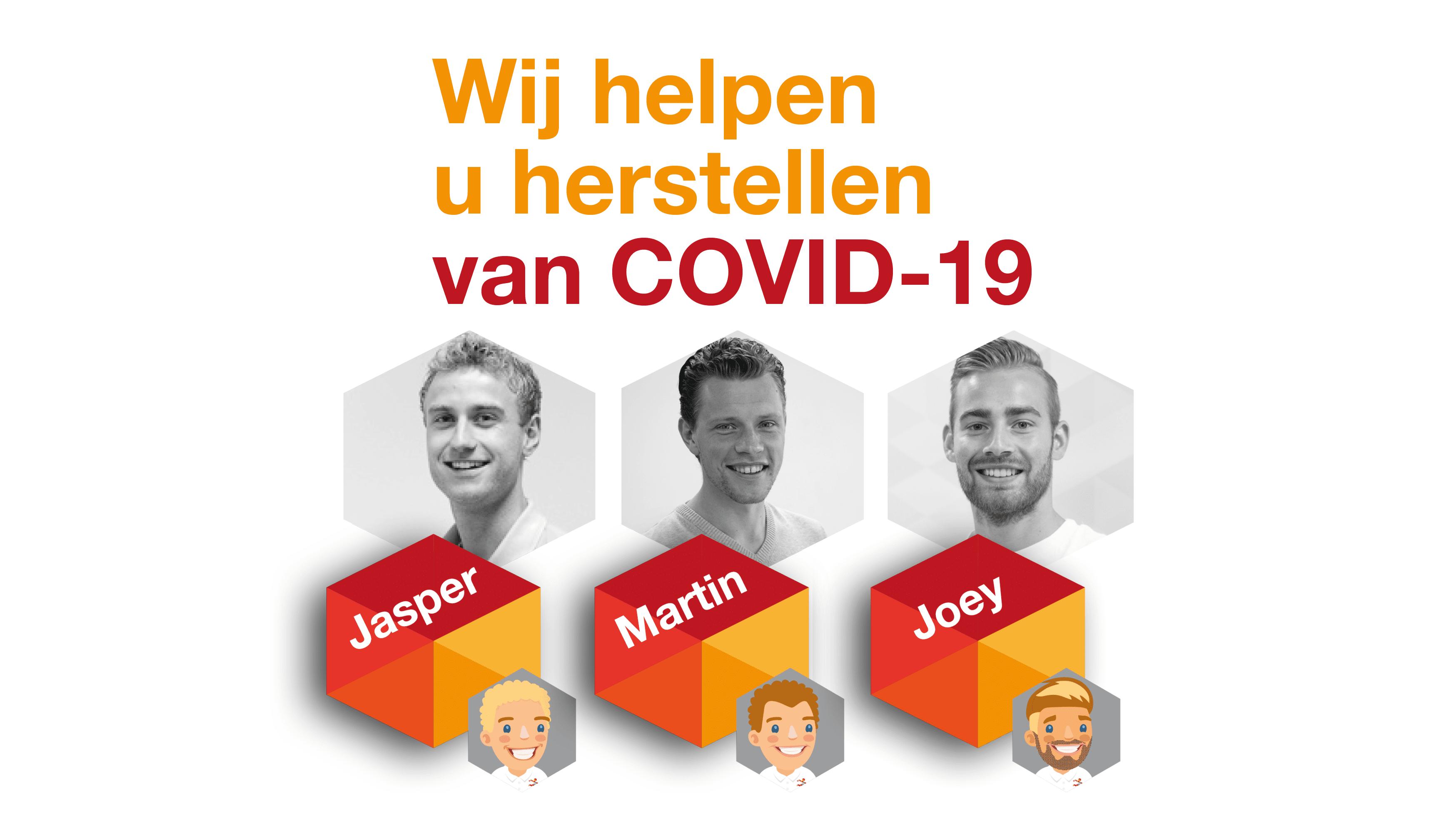 Wij helpen u in Zoetermeer herstellen van COVID-19. Jasper, Martin en Joey. Fysiotherapie Meerzicht